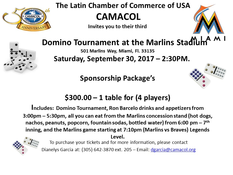 Domino Tournament Sponsorship Package $300
