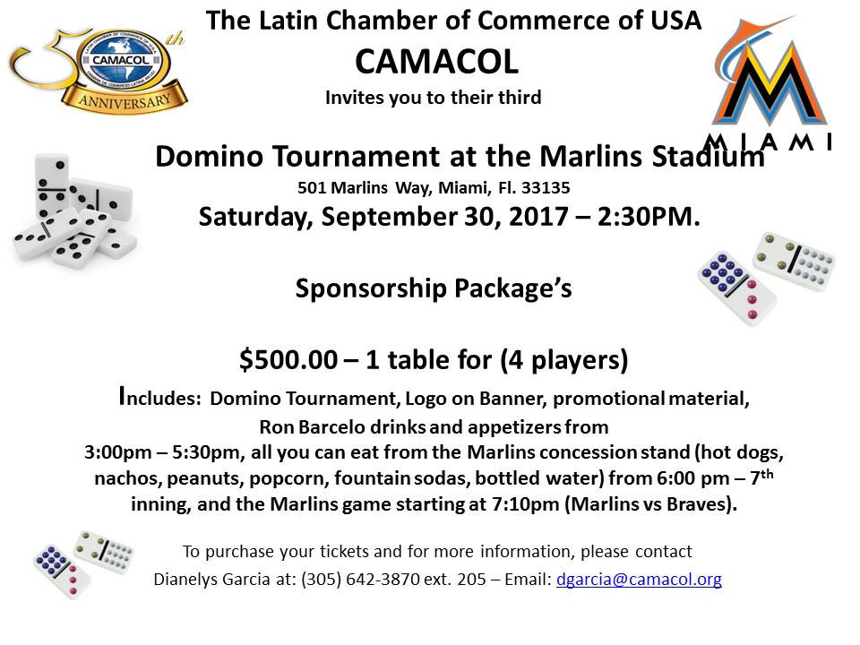 Domino Tournament Sponsorship Package $500