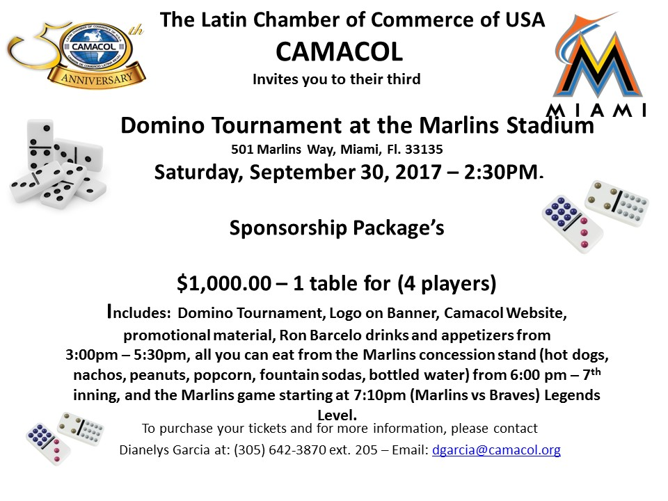 Domino Tournament Sponsorship Package $1,000