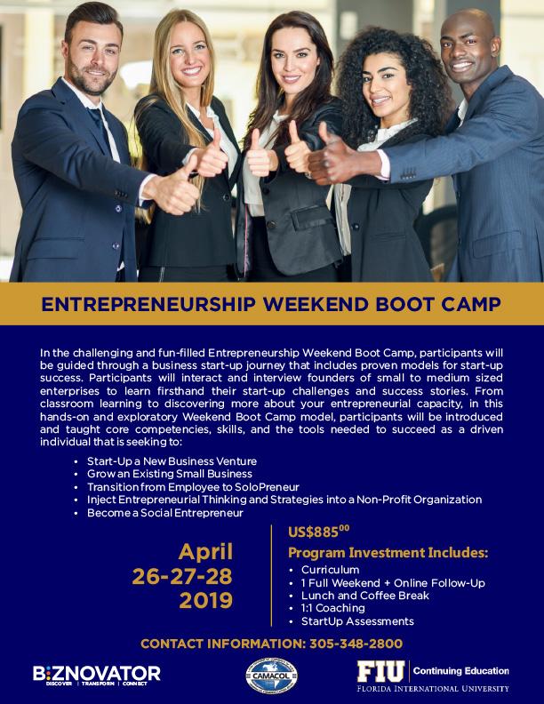 Entrepeneurship Weekend Boot Camp
